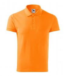 Tricou portocaliu bumbac Polo cu guler