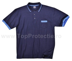 Tricouri polo cu guler navy/albastru royal sau gri/portocaliu model Texo