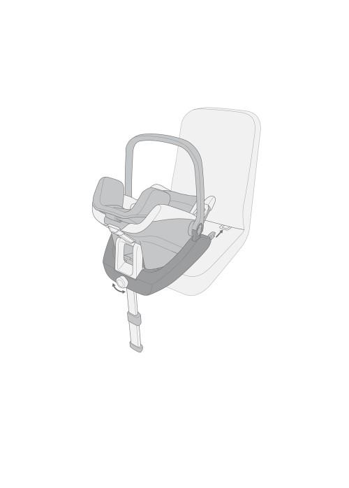 Poze Ansamblu  scaun auto AIR SAFE cu baza isofix  AIR FIX.