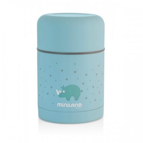 Poze Termos mancare solida Silky Blue 600 ml Miniland