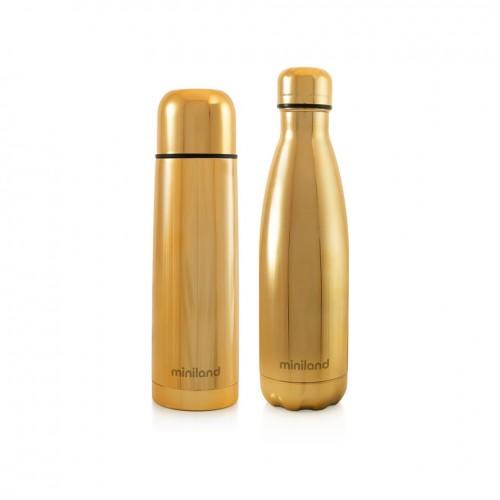 Poze Termos lichide myBaby@me 500 ml Gold (set de 2 termosuri) Miniland