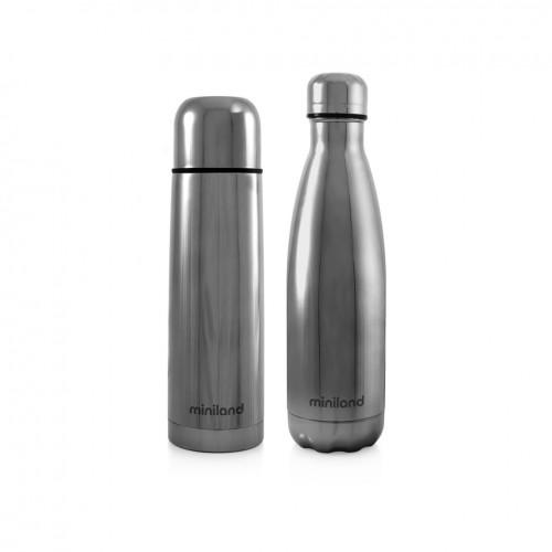 Poze Termos lichide myBaby@me 500 ml Silver (set de 2 termosuri) Miniland