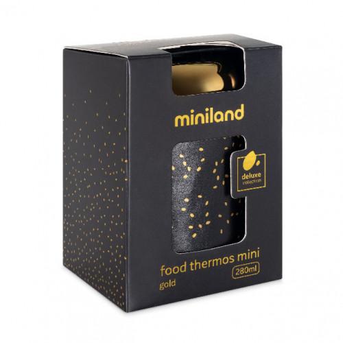 Poze Termos Mancare Solida Deluxe 280 ml Gold Miniland