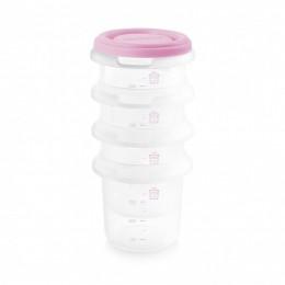 Set 4 Recipiente Plastic 250 ml Rose Miniland