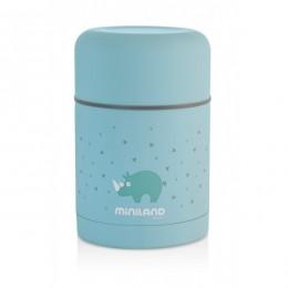 Termos mancare solida Silky Blue 600 ml Miniland
