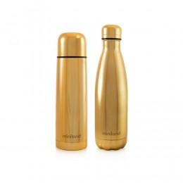 Termos lichide myBaby@me 500 ml Gold (set de 2 termosuri) Miniland
