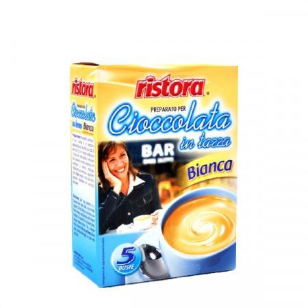 Ristora Ciocolata calda alba densa plic , 5 Buc.