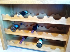 Poze RO-610 Vinoteca Dulap vinuri stejar culoare cires