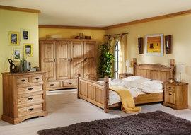 Poze 1486 Pat dublu lemn masiv Mobila Henke