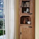 1527 Vitrina de colt lemn masiv Mobila Henke