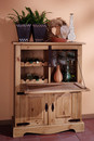 1510 Vinoteca lemn masiv Mobila Henke