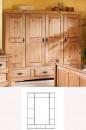 1489 Dulap 4usi lemn masiv Mobila Henke