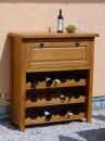 RO-610 Vinoteca Dulap vinuri stejar culoare cires