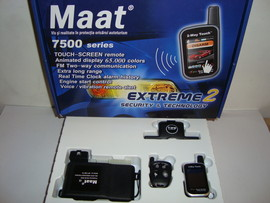 Alarma auto Maat 7500 cu pager touch screen color - Transport gratuit