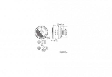 Difuzoare Componente KENWOOD KFC-E170P DE 16.5CM, 30W RMS