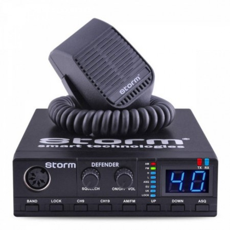 Statie Radio CB Storm Defender III 2019, putere regabila 4-8-15W, ASQ