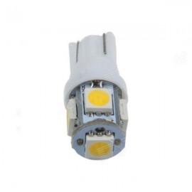 Bec pozitie T10 5 led SMD  lumina alba