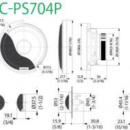 Difuzoare Auto Componente KENWOOD KFC-PS704P DE 16.5CM, 80W RMS