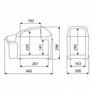 Cotiera termoelectrica Dometic TB 08 BordBar 12V, 8 litri