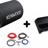 Pachet Audio KENWOOD KSC-W1200T + KAC-PS702EX + LK-10