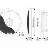Difuzoare Coaxiale KENWOOD KFC-X174 16.5CM, 80W RMS