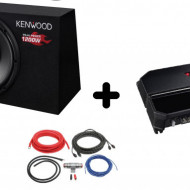 Pachet Audio KENWOOD KSC-W1200B + KAC-PS702EX + LK-10