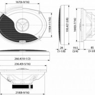 Difuzoare Coaxiale Ovale KENWOOD KFC-X694 6″X9″ 55W RMS