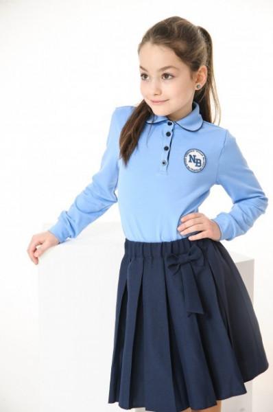 Bluza scoala albastra fete Andreea
