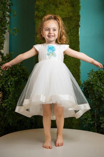 Rochie de lux Blue Hortensia