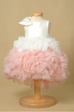 Rochita de lux fete 1001 volane roz