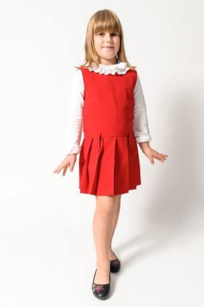 Sarafan fete scoala rosu