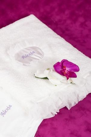 Trusou botez Orhidee- set pentru bebe