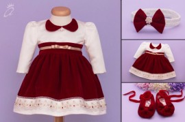 Set botez Festive Red Velvet