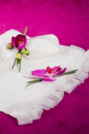 Trusou botez Orhidee- set pentru preot