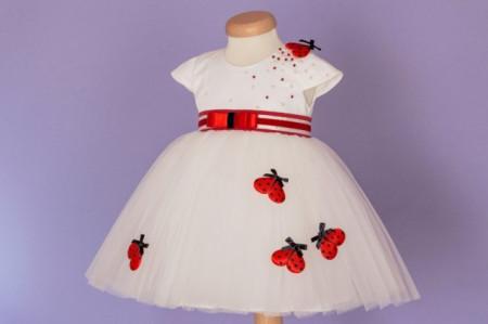 Rochie botez Summer Ladybug