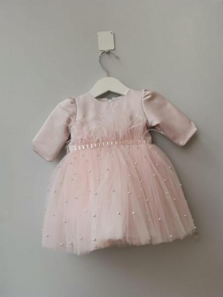 Rochita de botez Julia Pink Pearls