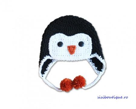 Caciula crosetata bebelusi Micul Pinguin