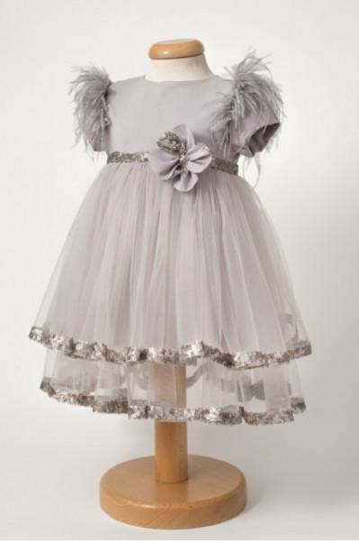 Rochie eleganta de lux Silver Rose