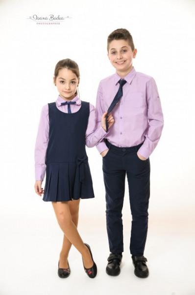 Camasa scoala Liviu violet