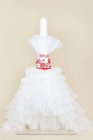 Lumanare botez personalizta Traditional lux