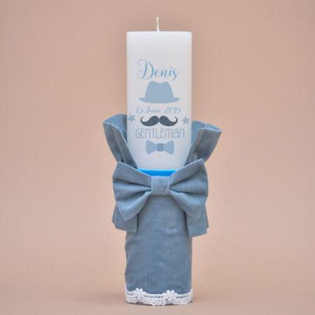 Lumanare de botez Little gentleman in blue