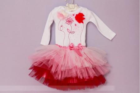 Set body si tutu Happy Pink Flowers