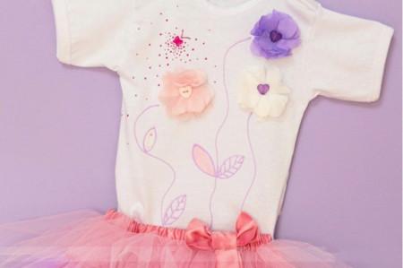 Set body si tutu Purple Flowers