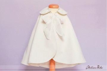 "Pelerina ivoire fete ""Soft Ivory"""