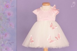 Rochie botez Pink Butterfly