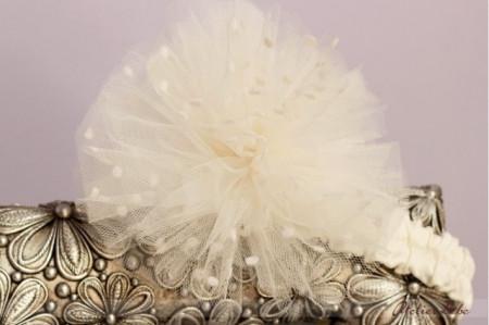 Set botez White Flower