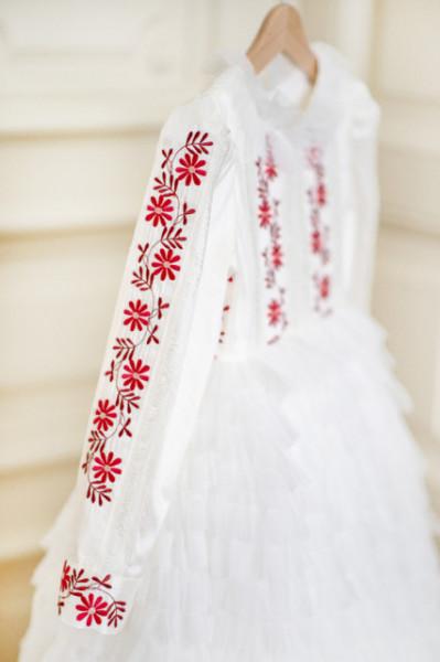 Rochie botez din shantung de matase Traditional lux