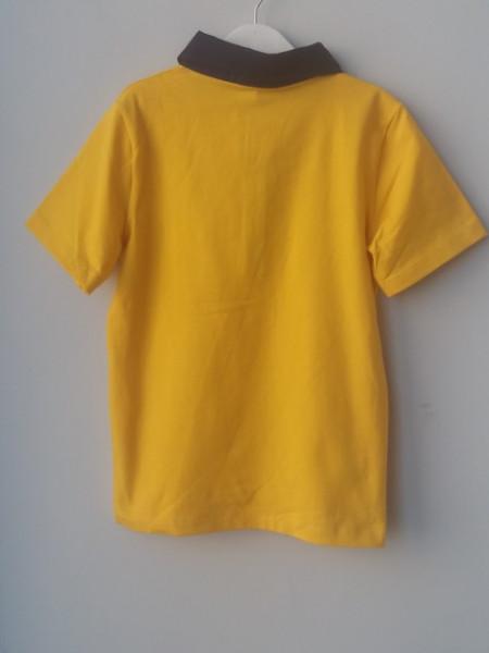 Tricou polo scoala baieti galben