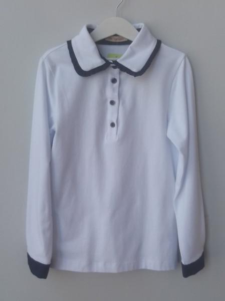 Bluza scoala alba fete Marina