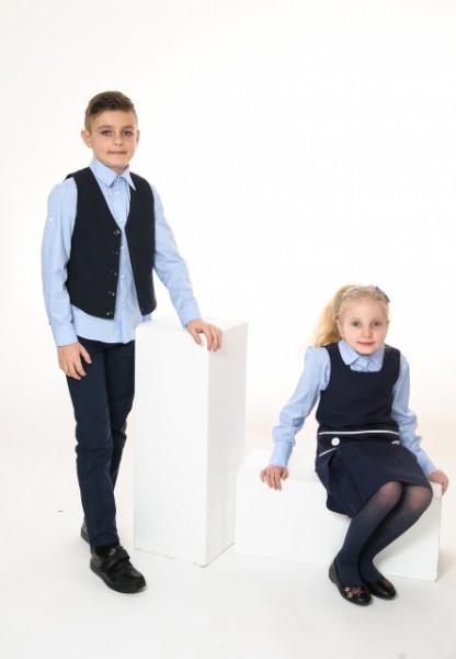 Camasa scoala albastra baieti Marius